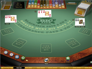 Big Five Blackjack Multi-hand Gold Series